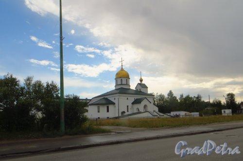 город Колпино, Пролетарская улица, дом 2. Свято-Троицкий собор. Фото 13 августа 2014 года.