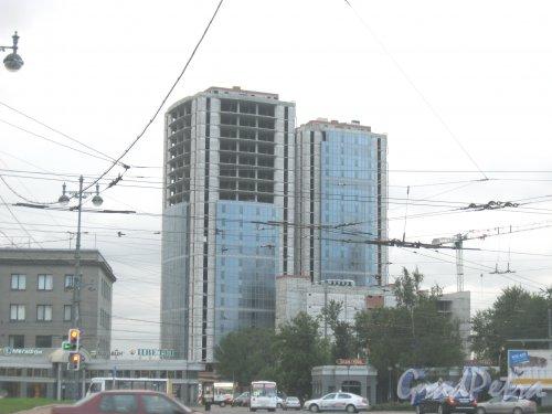 Ташкентская ул., дом 3. Вид со стороны Московского сада (сквера). Фото август 2014 г.