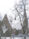 Лен. обл., Выборгский р-н, г. Приморск, Заводская ул., дом 5. Кирха Святой Марии Магдалины. Общий вид здания. Фото 7 декабря 2013 г.