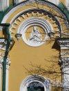 Соборная ул. (Гатчина), д. 26. Собор святого апостола Павла. Боковой фасад. Рельеф в тимпне закомары. Фото апрель 2014 г.