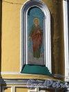 Соборная ул. (Гатчина), д. 26. Собор святого апостола Павла. Боковой фасад. Роспись на стене абсиды. Фото апрель 2014 г.