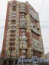 Улица Маршала Говорова, дом 12, корпус 1. Фасад жилого дома со стороны улицыа Маршала Говорова. Фото 29 ноября 2014 года.