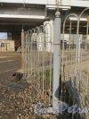 Предпортовая улица, дом 1а. Церковь Святителя Николая чудотворца. Ограда храма. Фото 6 марта 2015 года.