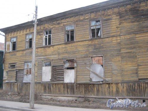 г. Павловск, Госпитальная ул., дом 9. Фрагмент фасада здания с ул. 1-го Мая. Фото 5 марта 2014 г.