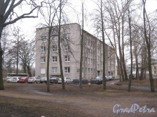 г. Павловск, Госпитальная ул., дом 1. Вид с Садовой ул. Фото 5 марта 2014 г.