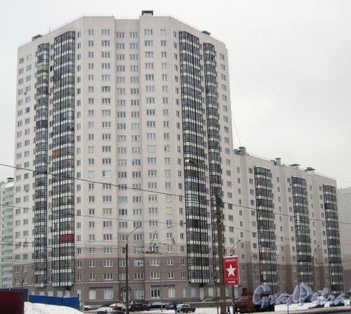 Ул. Коллонтай, дом 4. Общий вид с ул. Коллонтай. Фото 28 января 2015 г.