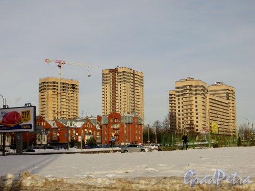2-я Алексеевская улица, дом 69. Строительство жилого комплекса «ДО РЕ МИ». Фото 11 февраля 2015 года.