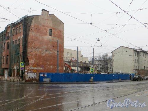 Улица Мира, дом 36. Общий вид участка перед началом сноса. Фото 9 марта 2015 года.