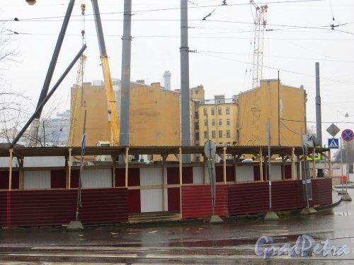 Улица Мира, дом 37. Участок после сноса строений. Вид по улице Мира. Фото 9 марта 2015 года.