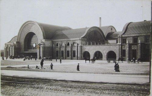 город Выборг, Здание каменного железнодорожного вокзала города Выборга. Фото начала XX века.