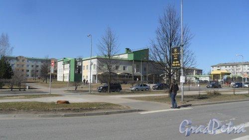 Ленинградская область, г. Всеволожск, Микрорайон Южный, Московская улица, дом 6. Культурно-досуговый центр. Фото 11 апреля 2015 года.