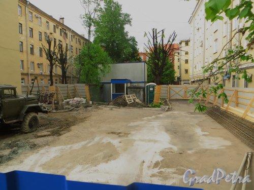 Тульская улица, дом 2а, литера А. Общий вид участка строительства художественной галереи. Фото 31 мая 2015 года.