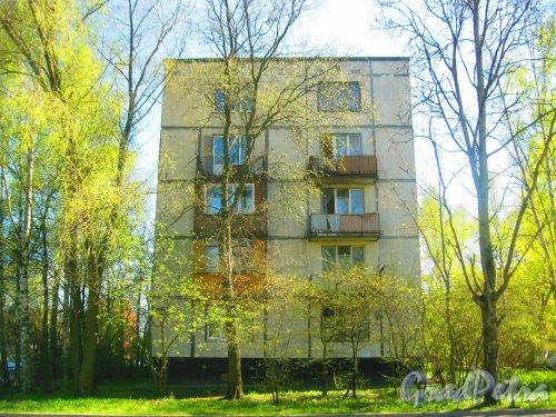 Ул. Козлова, дом 51, корпус 1. Торец дома со сторы игрового павильона. Фото 10 мая 2015 г.