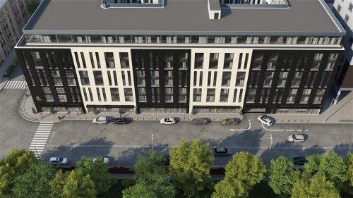 Херсонская ул., дом 43 / ул. Александра Невского, дом 12. Проект фасада апарт-отеля «Prime Residence» со стороны Херсонской улицы.