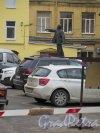 Цветочная ул., дом 3, Обувная фабрика «Виктория». Двор. Памятник В.И. Ленину. фото март 2015 г.