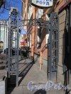 Кирочная ул., д. 8б. Евангелическо-лютеранская церквь Св. Анны. Боковая калитка решетки по Кирочной ул. Фото март 2015 г.