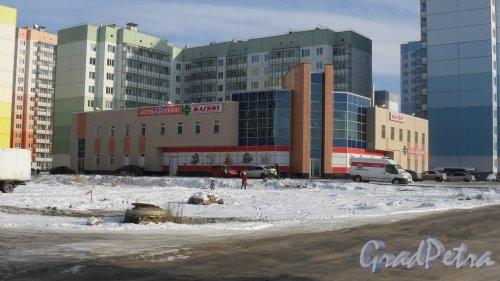 Всеволожск, микрорайон Южный, улица Крымская, дом 4А. Торговый центр. Вздании расположены универсам