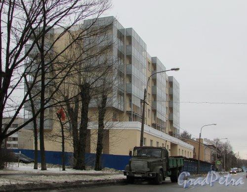 Стрельбищенская улица, дом 13. Новый построенный жилой дом. Фото 6 марта 2016 года.