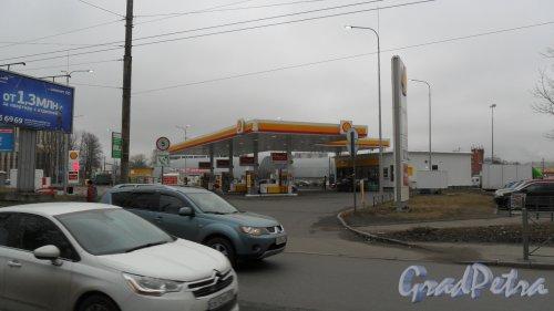 """Улица Новороссийская, дом 15. АЗС """"Shell"""". Фото 2 апреля 2016 года."""
