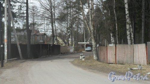 г. Всеволожск, улица Минюшинская. Панорама улицы от Колтушского шоссе. Фото 12 апреля 2016 года.