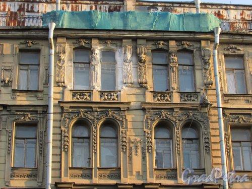 Улица Чайковского, дом 79, литера А. Центральная часть фасада со стороны улица Чайковского. 16 апреля 2016 года.