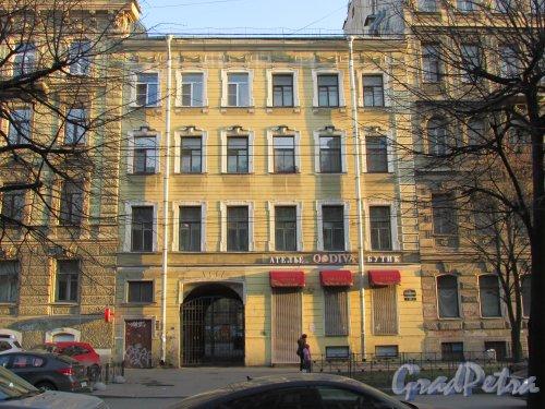 Улица Чайковского, дом 81, литера А. Фасад здания со стороны улицы Чайковского. 16 апреля 2016 года.
