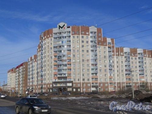 г. Гатчина, ул. Рощинская, д. 1а. Индивидуальный многоэтажный жилой дом. Общий вид с ул. Чехова. Фото март 2015 г.