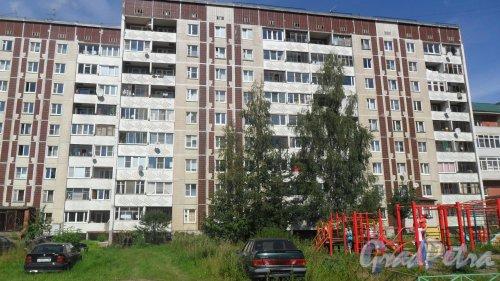 Всеволожск, улица Дружбы, дом 4, корпус 2. 9-этажный жилой дом 121 серии 1990 года постройки. 2 парадные, 72 квартиры. Фото 4 августа 2016 года.