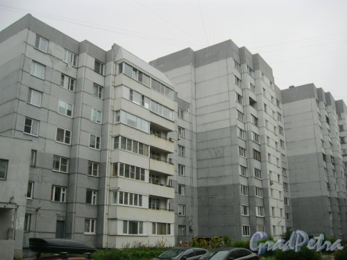 ул. Маршала Захарова, дом 39. Общий вид со стороны фасада, выходящего во двор дома. Фото 20 июля 2016 г.