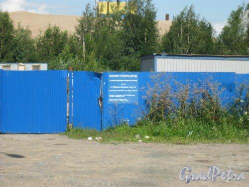 ул. Маршала Казакова, участок 3. Информация о строительстве. Фото 9 августа 2016 г.