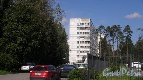 Всеволожск, улица Ленинградская, дом 21, корпус 3. 9-этажный жилой дом серии 1-ЛГ600А 1989 года постройки. 3 парадные, 108 квартир. Фото 23 августа 2016 года.
