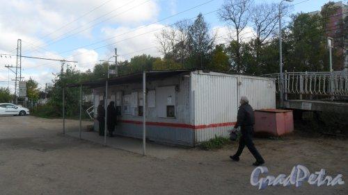 Всеволожск, улица Советская, дом 2В. Билетная касса железнодорожной платформы Бернгардовка. Фото 20 сентября 2016 года.