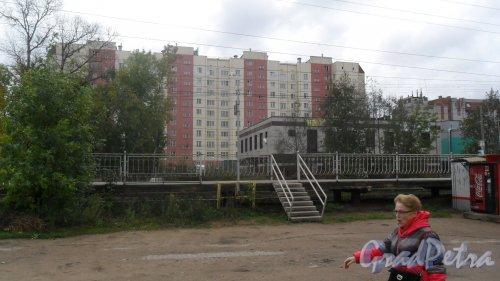 Всеволожск, Магистральная улица, дом 10. 10-этажный жилой дом 2006 года постройки. 4 парадные, 176 квартир. Фото 22 сентября 2016 года.