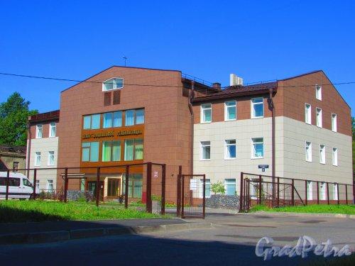 Запорожская улица, дом 25, корпус 1, литера Д. Общий вид здания Центра социальной реабилитации инвалидов после реконструкции. Фото 3 июня 2016 года.