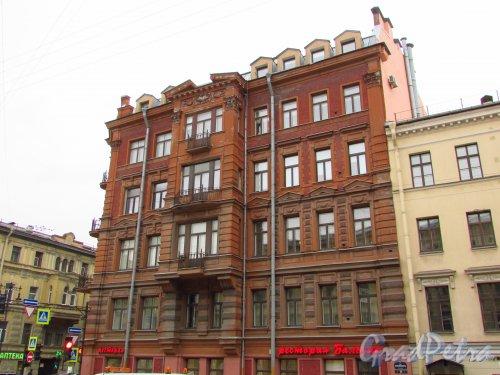 улица Жуковского, дом 25. Общий вид фасада здания бывшего доходного дома Н. Ф. Беккера. Фото 21 октября 2016 года.