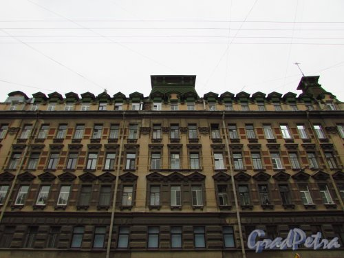 улица Жуковского, дом 7-9. Фасад здания доходного дома В. П. Брискорна. Фото 21 октября 2016 года.