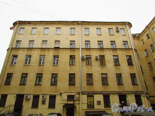 улица Жуковского, дом 6. Первый дворовый (пятиэтажный) флигель дома. Фото 21 октября 2016 года.