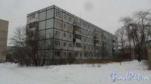 Всеволожский район, поселок имени Морозова, улица Лрдожская, дом 45, корпус 2. 5-этажный жилой дом 1978 года постройки. 4 парадные, 60 квартир. Фото 16 ноября 2016 года.
