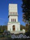 Фермская дорога (Пушкин), д. 2. Павильон Белая башня, Общий вид. фото октябрь 2015 г.