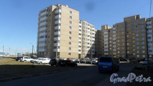 Красное Село, Геологическая улица, дом 46, корпус 2. 9-этажный жилой дом 2011 года постройки. 5 парадных, 193 квартиры. Фото 3 мая 2017 года.