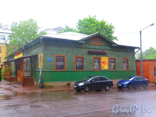 Димитрова ул. (Выборг), д. 4а. Одноэтажный деревянный жилой дом. Общий вид. фото июнь 2015 г.
