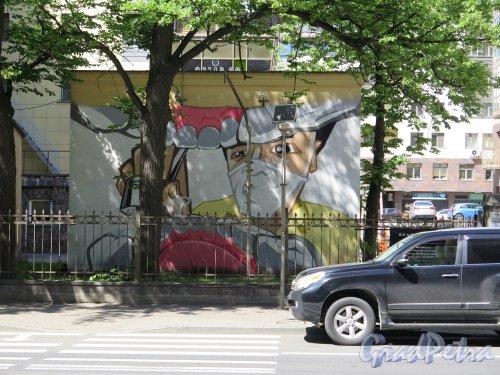 улица Куйбышева, дом 26, литера Ж. Трансформаторная подстанция с росписью. фото июль 2015 г.