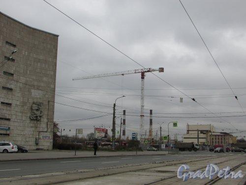 улица Салова, дом 61. Участок строительства жилого комплекса «VALO». Фото 28 октября 2017 года.