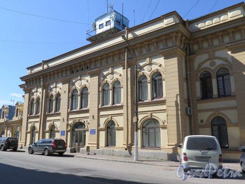 Южный Вал ул. (Выборг), д. 1.Управление Выборгского порта. Здание администрации,  1899, арх. Йохан Брюнольф Бломквист (Johan Brynolf Blomkvist), фото июль 2015 г.