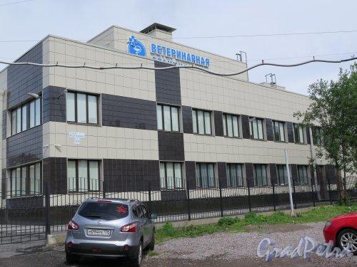 Васенко ул., д. 3/3. Ветеринарная станция. Боковой фасад. фото июль 2015 г.