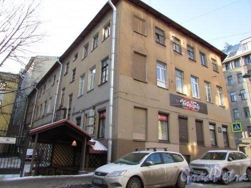 9-я Советская улица, дом 1 / Греческий проспект, дом 29. Общий вид здания со стороны 9-ой Советской улицы. Фото 31 января 2018 года.