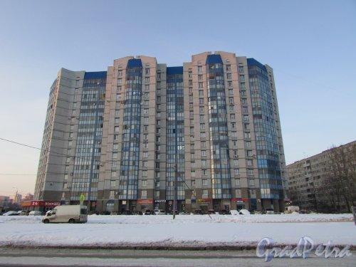 улица Димитрова, дом 2, литера А. Общий вид жилого комплекса «Южная линия» со стороны улицы Димитрова. Фото 8 февраля 2018 года.