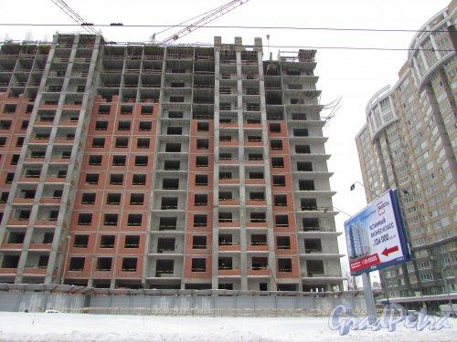 улица Костюшко, дом 19. Строительство ЖК «Москва». Фото 11 февраля 2018 года.