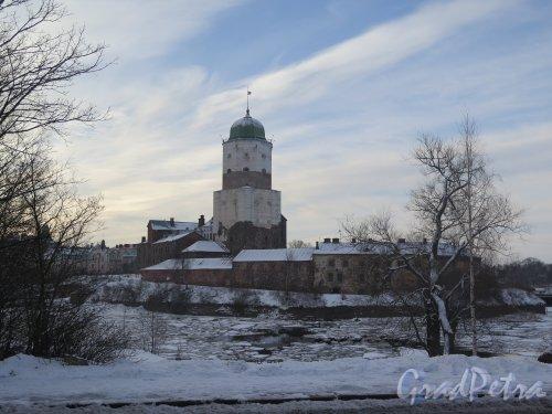 Выборгский замок зимой. Общий вид. фото февраль 2016 г.