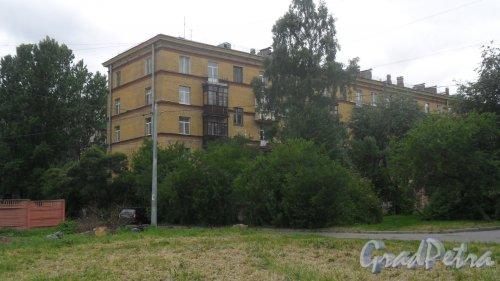Улица Бабушкина, дом 24. 5-этажный жилой дом серии 1-405 1959 года постройки. 4 парадные, 55 квартир. Фото 5 июня 2018 года.